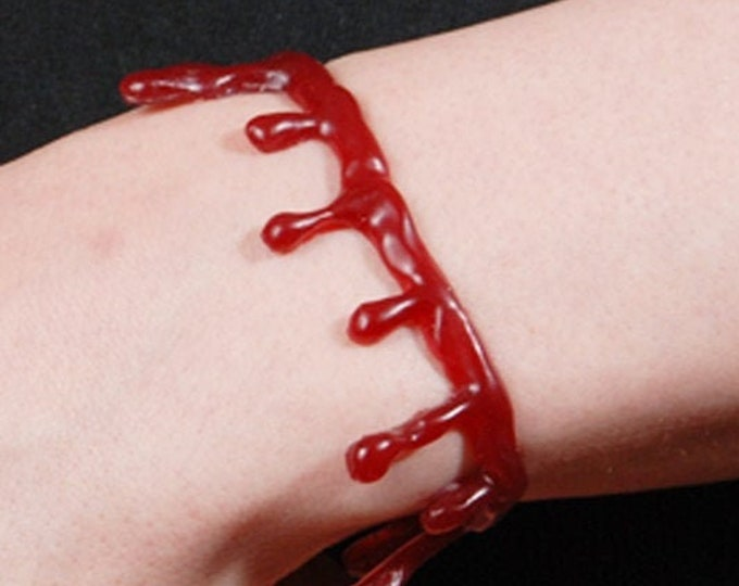 Blood Drip Bracelet - Dark Red Blood