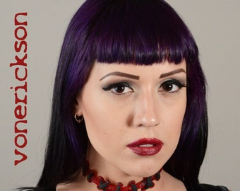 Gothic Jewelry Stitches choker necklace - Bright Red  Extreme