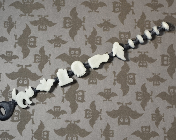 creepy crunch glow in the dark graveyard mix bracelet