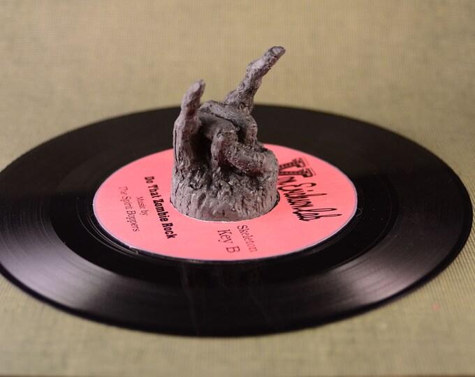 Devil Rock 45  RPM Record adapter Bakelite Brown