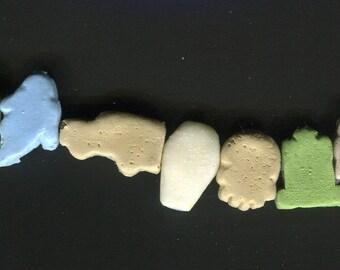 Creepy Crunch Cereal Bracelet - Creepy Cute -Ghoulish Graveyard Mix #3