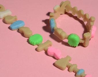Kawaii Creepy Crunch Cereal Bracelet - Creepy Cute -Laboratory Mix
