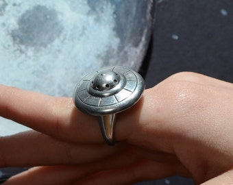 Mechanical Ring -Flying Saucer Ring- UFO