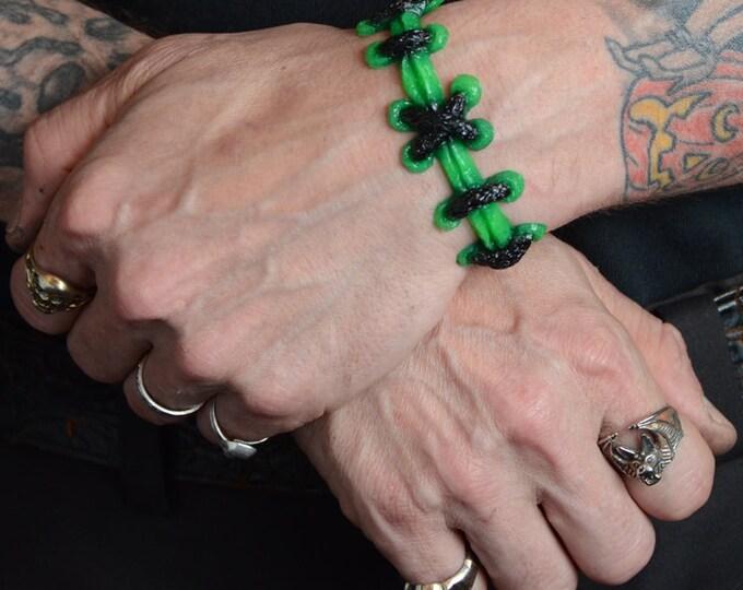 Brite Green Stitch Bracelet - WIDE stitch