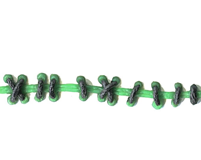 Creepy Monster Green Gothic Stitch Bracelet