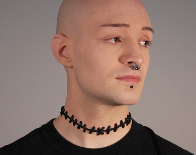 VonErickson's Original  Stitch Necklace - Thin Black