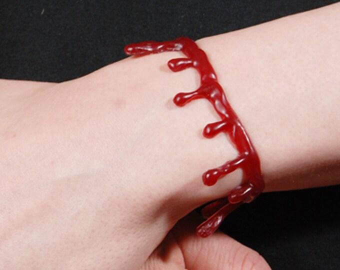 Blood Drip Bracelet  Dark   Red gothic jewelry