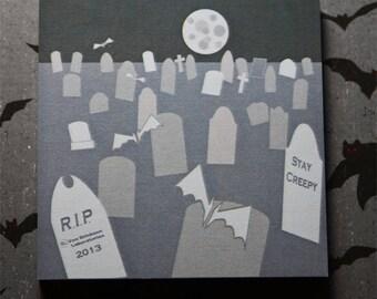 Halloween graveyard  desk Stationary Sticky Note  (3 Pad Set)