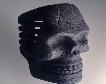 Black Plastic Skull Microphone Ring