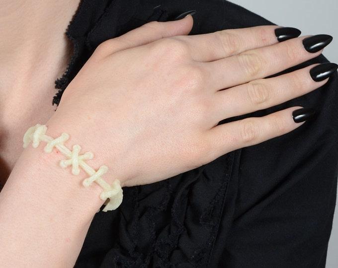 Frankenstein Zombie Bracelet- All Glow in Dark  stitches  bracelet 2 pc set