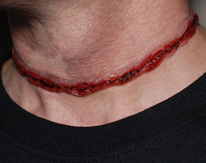 Bloody Red Slit Throat Choker  Frankenstein Monster Undead Zombie Horror Halloween Gory Zombie Monster VonErickson Original