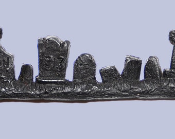 Gothic Jewelry - Cemetery Tombstone Bracelet  .Black