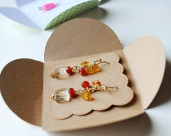 EARRINGS and NECKLACE PACKAGING - set of 24