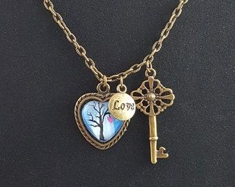 Original hand painted pendant