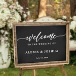 Personalized Wedding Sign Decal, Wedding Welcome Decal, DIY Wedding Sign Decal, Personalized Wedding Decor