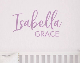 Nursery Name Decal, Vinyl Wall Decal for Childrens Room