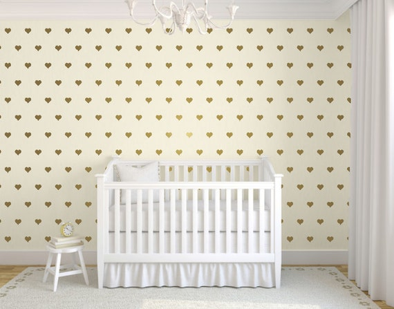 gold heart wall decals heart wall stickers gold wall decals | etsy