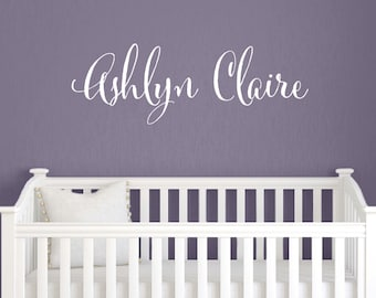 Personalized Name Decal - Vinyl Wall Decal - Baby Girl Name Decal - Nursery Wall Decal