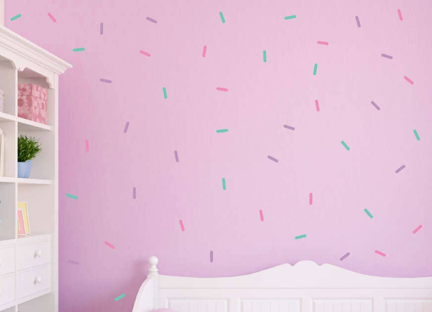 Sprinkle Wall Decals 3 Color Sprinkle Wall Stickers Peel