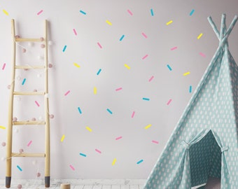 Sprinkle Wall Stickers, Ice Cream Party Decorations, Birthday Party Decor, Sweet Shoppe, 102 Wall Sprinkles