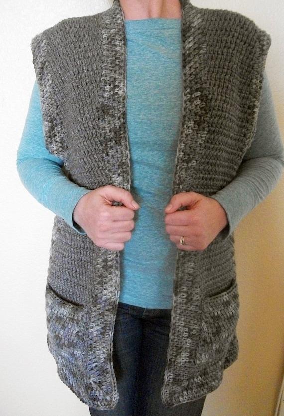 Pattern Easy Crochet Vest Pattern Adjustable Crochet Vest Etsy