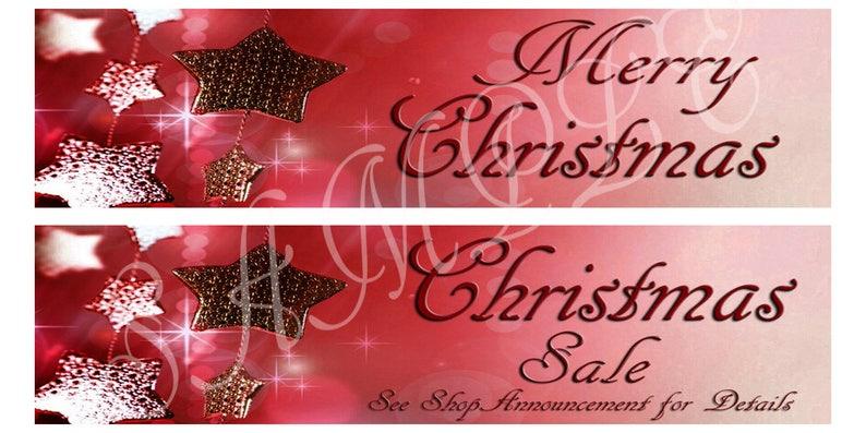 9e1e9bf903fa Merry Christmas Etsy Shop Banners Christmas Sale Etsy Shop