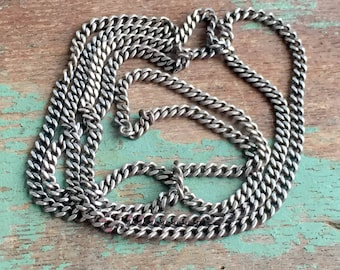 Antique Sterling Silver Continuous chain necklace