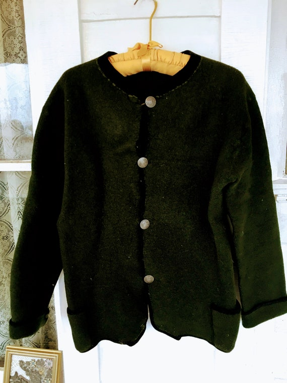 Antique Austrian Military Heavy Wool Sweater With