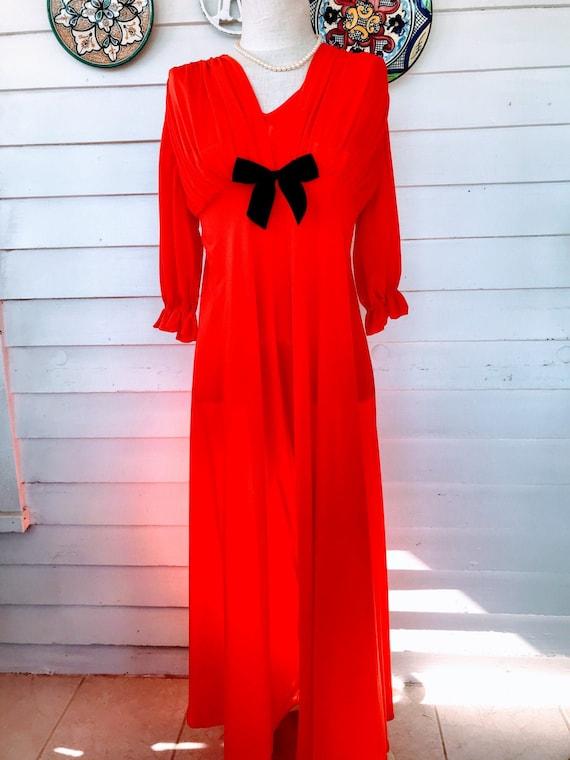Vintage Figurettes Orange Nightgown with Bullet Br