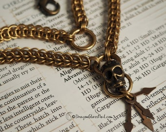 Keeper of Time Brass Chainmaille Necklace, 6 in 1 Full Persian