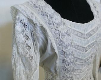 Edwardian vintage wedding bridal dress