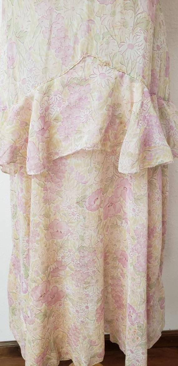 1920's floral dress Gatsby Deco vintage dress - image 4