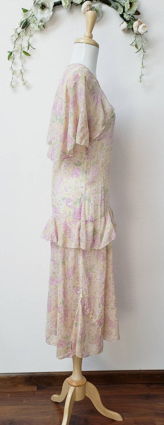1920's floral dress Gatsby Deco vintage dress - image 3
