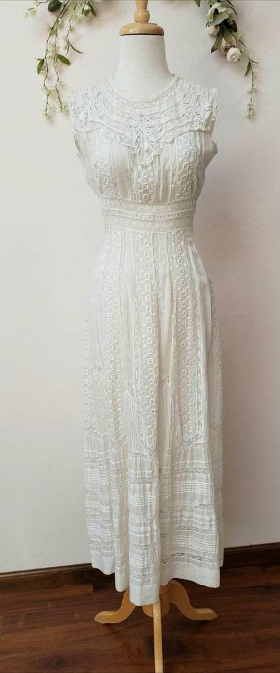 Edwardian lace vintage bridal wedding dress