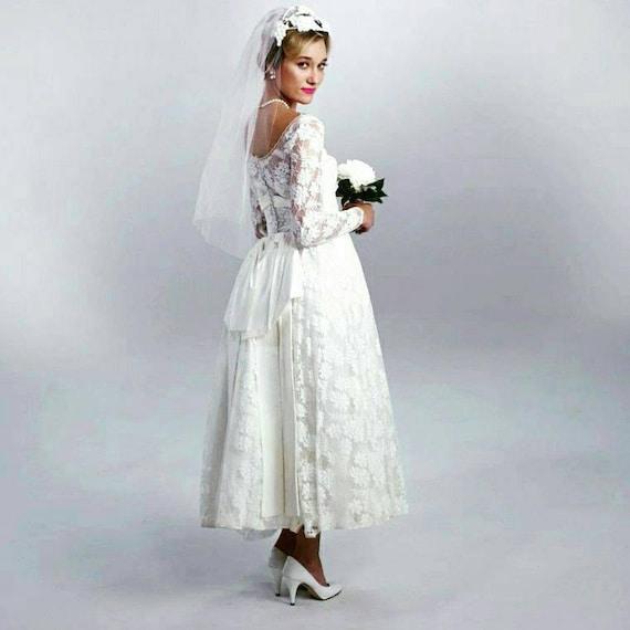 Vintage 1950\'s Bridal dress ON SALE   Etsy