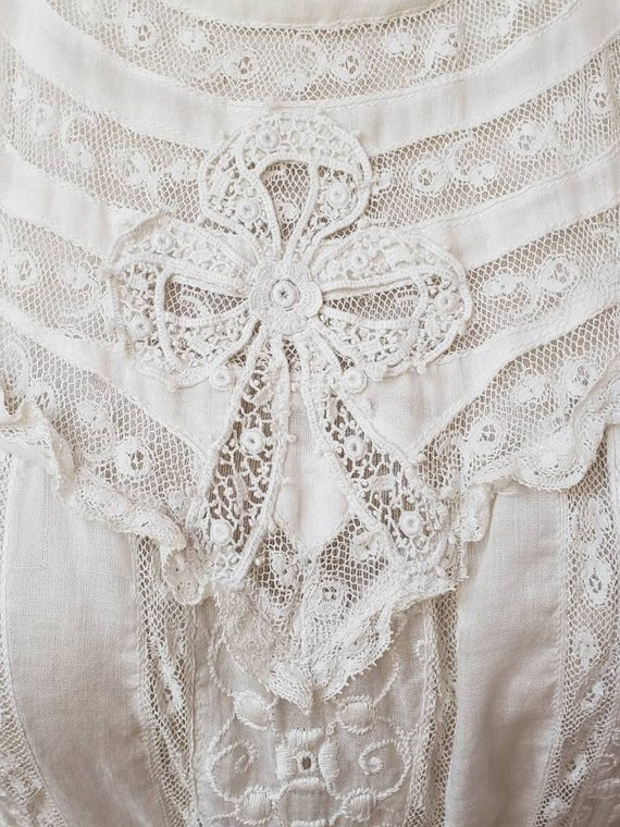 Reduced! Edwardian lace vintage bridal wedding dre