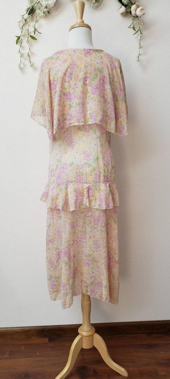 1920's floral dress Gatsby Deco vintage dress - image 2