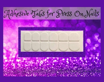 Adhesive Tabs for Press On Nails | Nail Sticky Tabs | Double Sided Nail Tape | Drag Nails | Regular or Small Nail Adhesive | Nail Glue