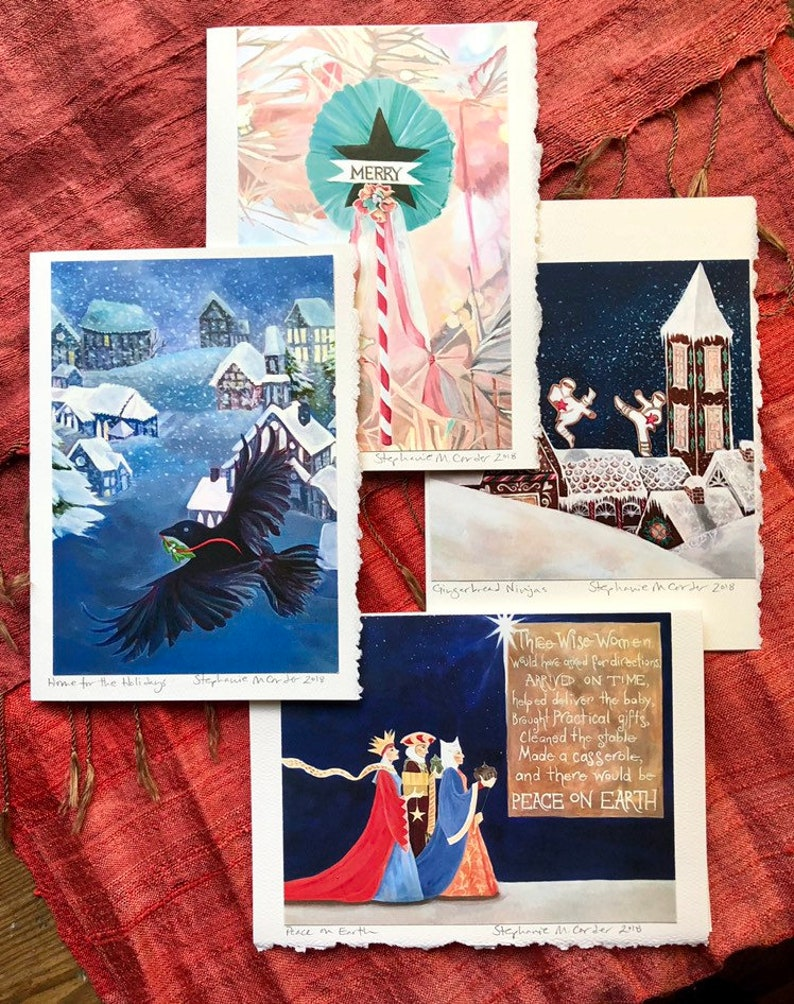 Unusual Boxed Christmas Cards.Boxed Christmas Cards Funny Christmas Cards Unusual Christmas Cards Three Wise Women Boxed Holiday Card 8 Cards 8 Envelopes