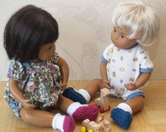 "Sasha  Baby 12"" Doll Sock Shoe Bootee  Knitting Pattern"