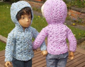 "Sasha 16"" 17"" Doll Hoody Sweater Knitting Pattern"