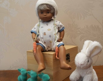 "Sasha  Baby 12"" Doll Bunny Hat  Knitting Pattern"