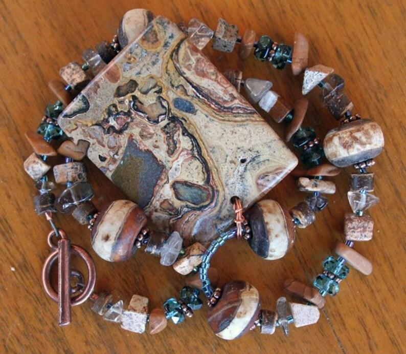 DESERT OASIS Necklace Stromatolite Quartz Jasper image 0