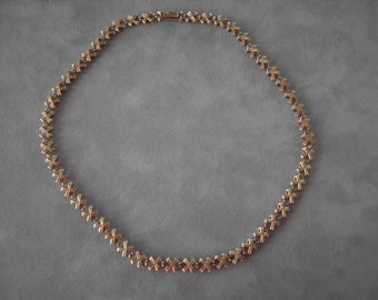 """Vintage 14K Yellow Gold X-Chain Necklace-26 grams- 17.5"""" long"""
