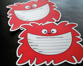 Monster Party Invitations