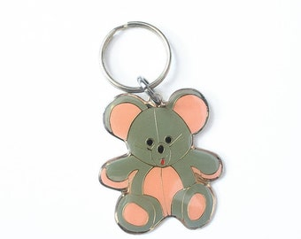 3c13ff9b71d1b 90s Teddy Bear Keychain 1990s Jewelry Accessories Glitter Goth Kinderwhore  Soft Grunge Aesthetic Kawaii Babydoll 1980s Enamel 80s Cloisonné