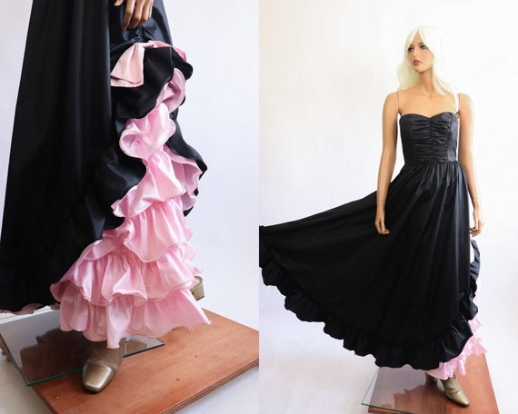 Iconic Princess Gown 70s Victorian 80s Party Dres… - image 4