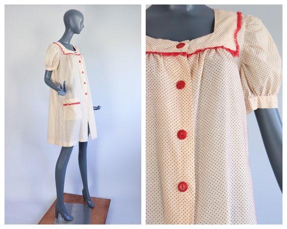 1930s Chore Dress 30s Smock Jacket Loungewear Dust