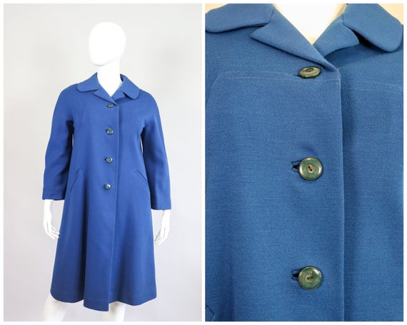 1960s Cobalt Wool Jumpsuit Jacket Set