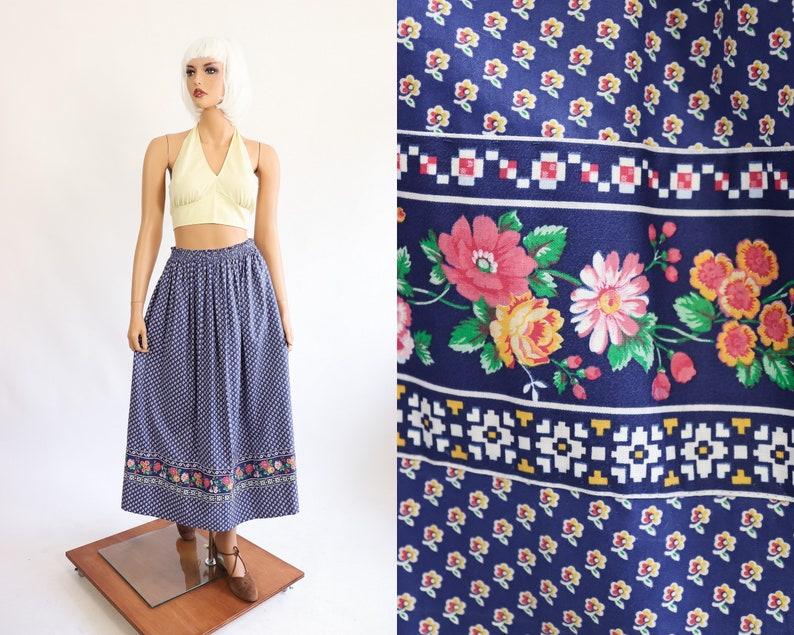 594154304 Vintage Vera Bradley Skirt 80s Floral Print Summer 1980s | Etsy